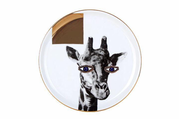 Porland Wild Life Giraffe Düz Tabak 20cm