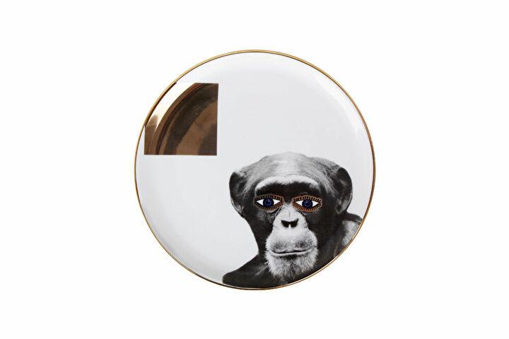 Porland Wild Life Monkey Düz Tabak 20cm