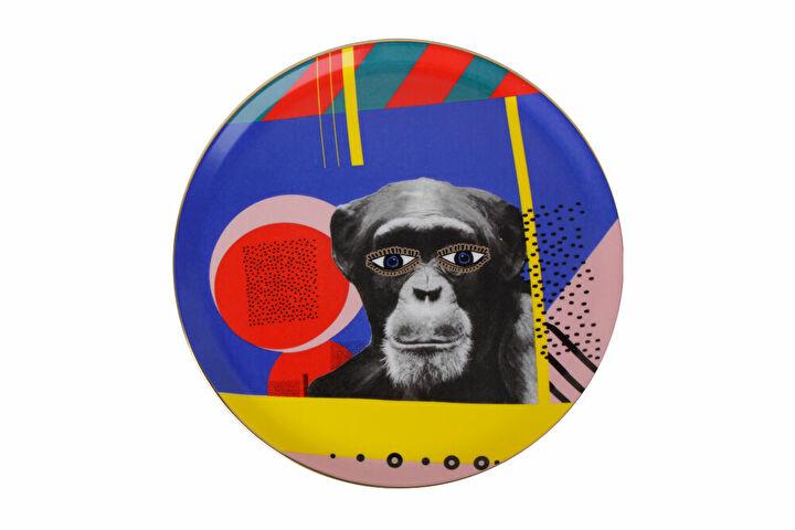 Porland Wild Life Monkey Düz Tabak 28cm