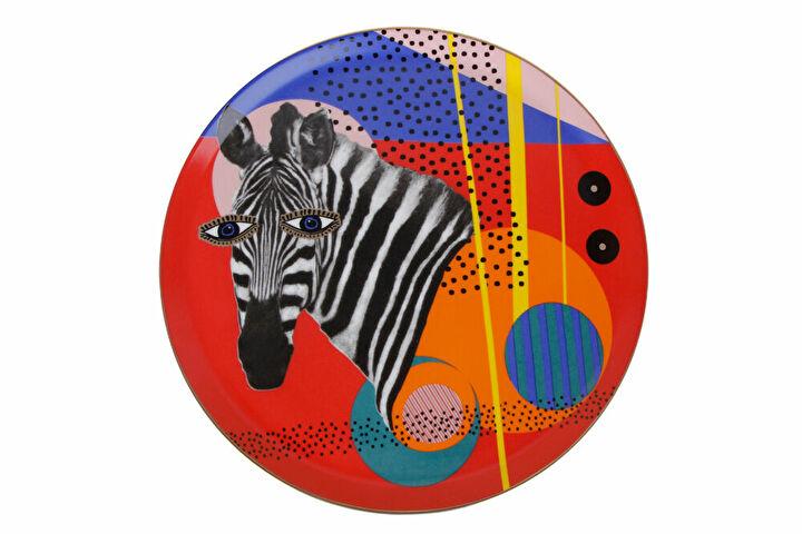 Porland Wild Life Zebra Düz Tabak 28cm